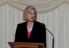 UK Home Secretary, The Rt Hon Theresa May MP, delivers the keynote address at a 2014 Navroz reception hosted at the Houses of Parliament.