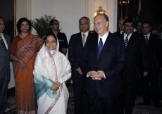 Mawlana Hazar Imam meets with the Honourable President of India, Mrs Pratibha Patil. (New Delhi, 2008) AKDN / Gary Otte