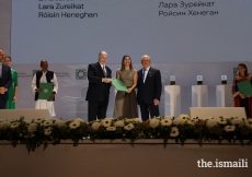 Lara Zureikat is honoured at the Aga Khan Award for Architecture 2019 Ceremony for her work on the Palestinian Museum in Birzeit.