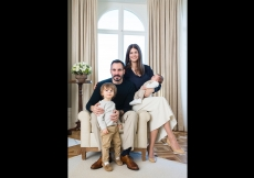 Prince Rahim and Princess Salwa with Prince Irfan and Prince Sinan, who was born on 2 January 2017. TheIsmaili