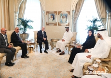 Mawlana Hazar Imam exchanges views with senior officials of the UAE government, His Highness Sheikh Mohammed bin Zayed Al Nahyan, Her Excellency Reem Al Hashimy, as well as with leaders of the community.