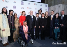 Mawlana Hazar Imam and the other recipients of Asia Society's 2017 Game Changer Awards.