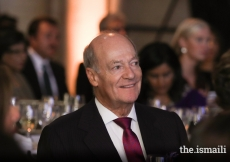 Prince Amyn accompanied Mawlana Hazar Imam to Asia Society's 2017 Game Changer Awards.