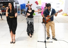 A surprise pop-up performance is held at Feira Internacional de Lisboa 1.
