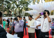 Dignitaries experiencing the exemplary work done by the AKDN through visual reality