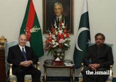 Mawlana Hazar Imam meets with Prime Minister Shahid Khaqan Abbasi