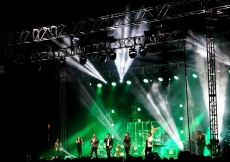 Artists perform on stage at the Jubilee Concert in Houston