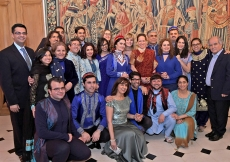 Princess Zahra and her daughter Sara gather with the performers for a group photograph. Photo: Zahur Ramji