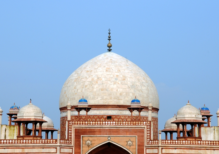 The restored dome of Humayun's Tomb, in Delhi.