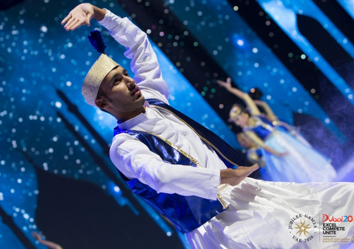 South Asian dance at the Closing Ceremony of the 2016 Jubilee Games. Asif Balesha