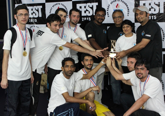 The victorious Kuala Lumpur cricket team at the Far East Sports Tournament. Salman Motani