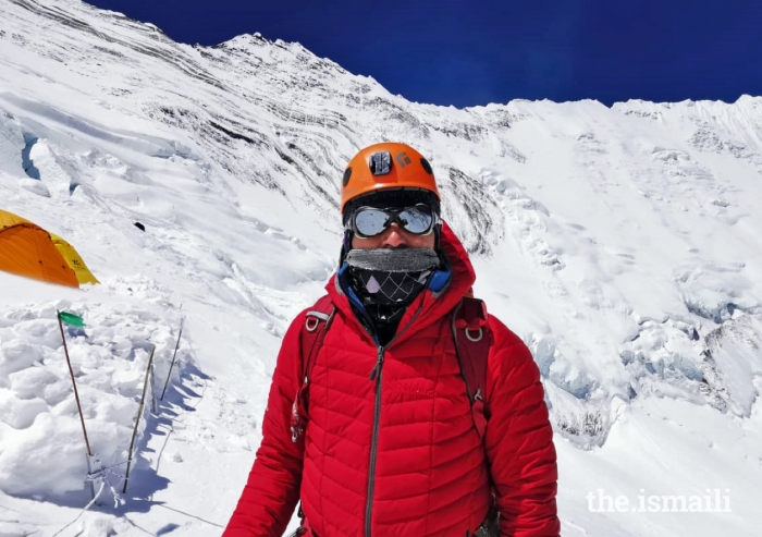 Mirza Ali at Camp 3 of Mount Everest (22,000 ft). Mountain climbing is rooted in the history, geography, and culture of Gilgit-Baltistan.