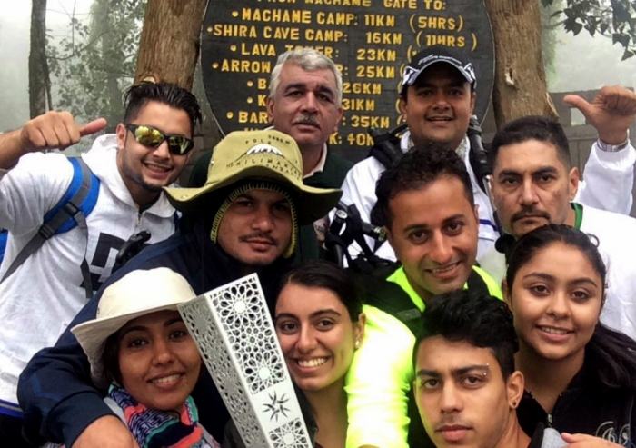 Tanzania's Jubilee Games Fanous was carried up to the summit of Mount Kilimanjaro, Africa's highest peak. Ismaili Council for Tanzania