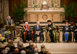 The convocation of the Pontifical Institute of Mediaeval Studies took place at St Basil's Collegiate Church in Toronto. Mo Govindji