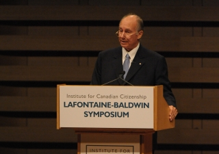 Mawlana Hazar Imam delivers the LaFontaine-Baldwin Lecture in Toronto, Canada. Hazar Imam talked about the long history of pluralism, the intensification of these challenges and how best to respond to that challenge.