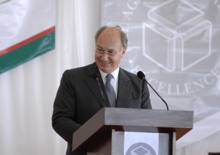 Mawlana Hazar Imam expresses his vision for the Academies during the foundation stone-laying ceremony of the Aga Khan Academy, Kampala.