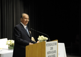 Mawlana Hazar Imam speaks at the annual meeting of the International Baccalaureate.