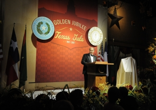 Mawlana Hazar Imam speaking at the Texas Gala in honour of his Golden Jubilee.