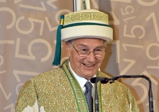Mawlana Hazar Imam speaking at AKU's convocation ceremony in Nairobi, Kenya.