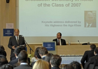 Mawlana Hazar Imam speaking at Graduation Ceremony of the Masters of Public Affairs (MPA) Programme at the Institut d'Etudes Politiques de Paris (Sciences Po).