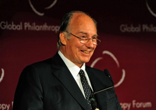 Mawlana Hazar Imam addresses the 2009 Conference of the Global Philanthropy Forum in Washington, DC.