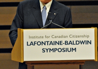 Mawlana Hazar Imam addressed the 10th annual LaFontaine-Baldwin Symposium in Toronto on Friday, 15 October 2010.