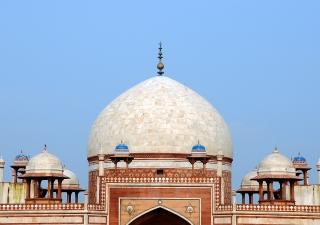 The restored dome of Humayun's Tomb, in Delhi.
