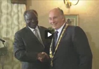 Mawlana Hazar Imam was guest of honour at a dinner reception hosted by the Jamati Institutions in Kenya.
