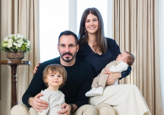 Prince Rahim and Princess Salwa with Prince Irfan and Prince Sinan, who was born on 2 January 2017.