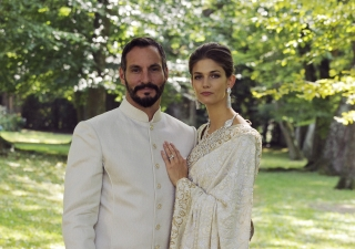 Pictured here on their wedding day, Prince Rahim and Princess Salwa have announced the birth of their first child, Prince Irfan. TheIsmaili / Gary Otte