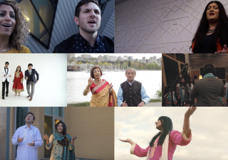 """Members of the Canadian Jamat participate in a music video for the devotional song """"Aaya Mawlana"""" written and composed by Zaheed Damani and Alya Bejaoui."""