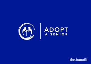 The logo designed for the Adopt a Senior initiative depicts a carer helping a senior citizen, housed inside a bubble of safety.
