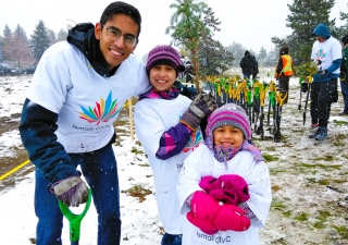 Edmonton volunteers planted 2,100 trees on the second annual Ismaili CIVIC Day.