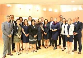 Members of the Implementation Sub-Committee under the Agreement of Cooperation between the Ismaili Imamat and the Ontario Government following the Iftar dinner