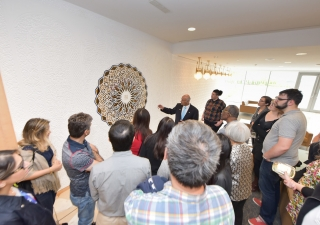 Visitors enjoyed learning and hearing about the significant pieces of art while touring the Ismaili Centre, Toronto