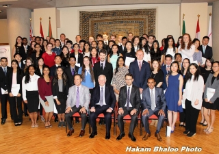 His Excellency the Right Honourable David Johnston, Governor General of Canada, presented The Duke of Edinburgh's Gold Award to 70 young achievers from British Columbia at the Ismaili Center, Burnaby.
