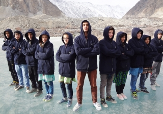 Enthusiastic participants from Gilgit, Hunza and Ishkoman-Puniyal learnt ice skating and hockey through AKYSB Pakistan's expanded Sports Fellowship Programme.