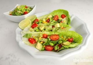 Edamame and corn salad