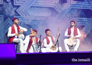 Tajik musicians perform at the International Talent Showcase.
