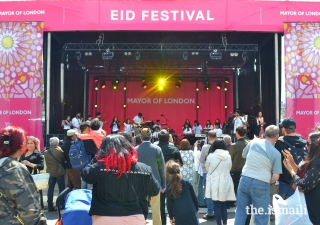 Thousands of people from various cultures came together to celebrate the end of Ramadan at the London Eid Festival in the city's iconic Trafalgar Square on Saturday 8 June 2019.