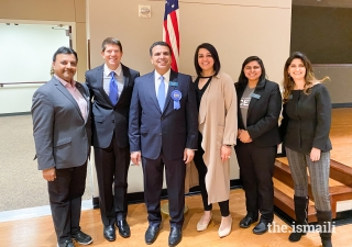 Mayor Kevin Falconer with the leadership team from the Ismaili Council for the Central United States.
