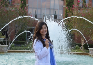 Shahzadi Khan at Houston Baptist University, where she obtained her nursing degree.