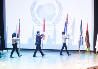 Parade of Country Flags at the IYMUN Closing Ceremony