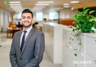 Riaz Jiwani, who received college financial assistance through the Aga Khan Education Board's Education and Financial Aid Scholarship program (EFAS).