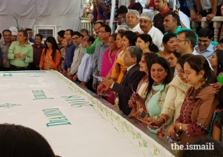 The United Bakers Co-operative Society Limited (UBCL) whipped up a record-breaking 940 kg cake to commemorate Mawlana Hazar Imam's Diamond Jubilee visit to Hyderabad.