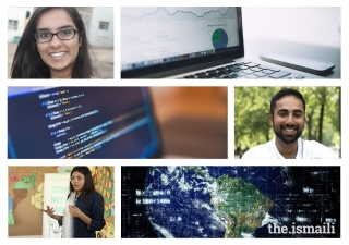 Technology has unlocked countless opportunities for students looking to get ahead in today's world of rapid change; (From top to bottom) Sana Lakdawala, Zain Bhanji, and Azima Dhanjee.