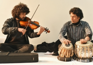 Zia (left) is currently exploring western fusion. He has formed a band, along with four other musicians from Hunza.